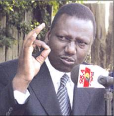 William Ruto, Member of Parliament for Eldoret.