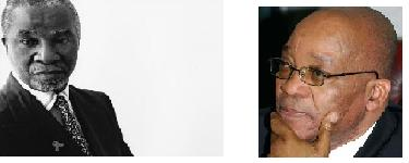 Thabo Mbeki (left) and Jacob Zuma (right)