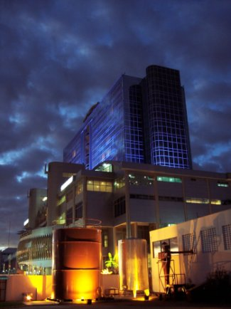 Panari Hotel on Mombasa road in this picture taken during the evening twilight.