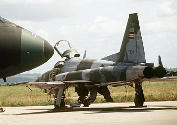 A Kenya Airforce F-5 fighter jet. Picture by Wikipedia.