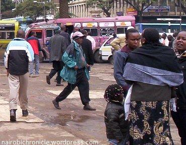 Nairobi residents in winter clothing
