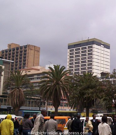 Winter clouds in the city of Nairobi creating a grey atmosphere.