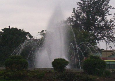 The new fountain at the roundabout of Moi and Haille Selassie Avenues.