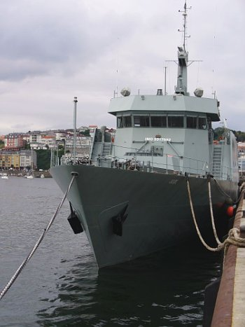 The KNS Jasiri at a Spanish port, where it has docked for years.