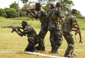 Uganda Peoples Defence Forces (UPDF) troops in action. Picture by Africom.