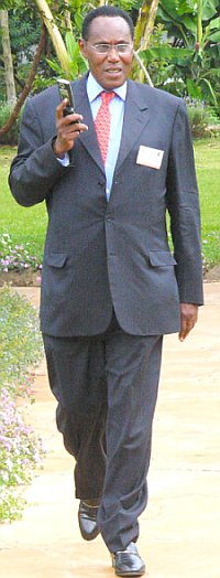 Professor George Saitoti. Picture by Tom Maruko