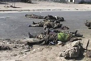 Bodies of combatants left to rot in the streets. Without a functioning administration, there is nobody to collect and bury the bodies. There are no mortuaries to preserve the bodies.