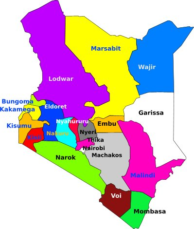 The new provincial units created by President Mwai Kibaki