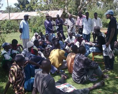 Ongoing civic education in Shinyalu Constituency, where a by election will be held on August 27. Picture from the Jukwaa forum.
